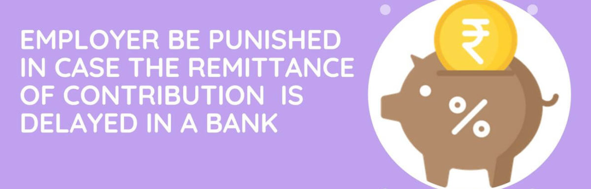 Could The Employer Be Punished In Case The Remittance Of Contribution By Him Is Delayed In A Bank Or Post Office?