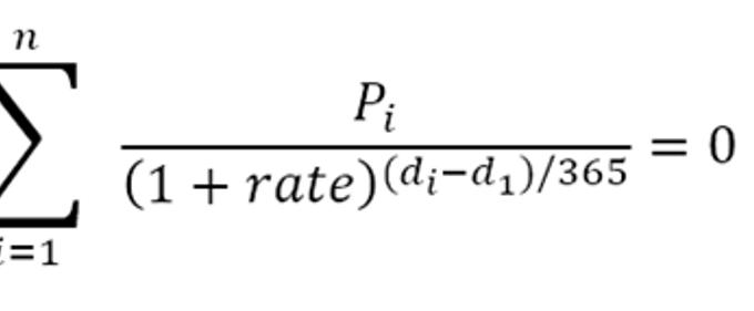 XIRR Function
